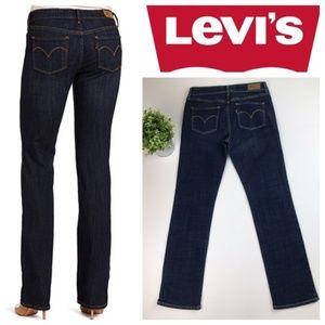 Levi's Slight Curve Straight Dark Wash Jeans